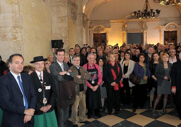 Denis Broliquier (Maire de Lyon 2è) et Michel Havard (Député du Rhône) au premier rang !