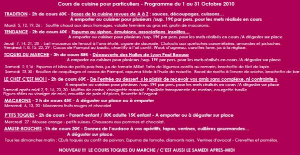 Les Cours De Cuisine De Philippe Lechat Aux Halles Paul Bocuse - Cours de cuisine bocuse