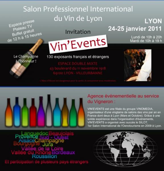 Votre invitation gratuite pour le salon vin eventslyon - Invitation gratuite salon du chocolat ...