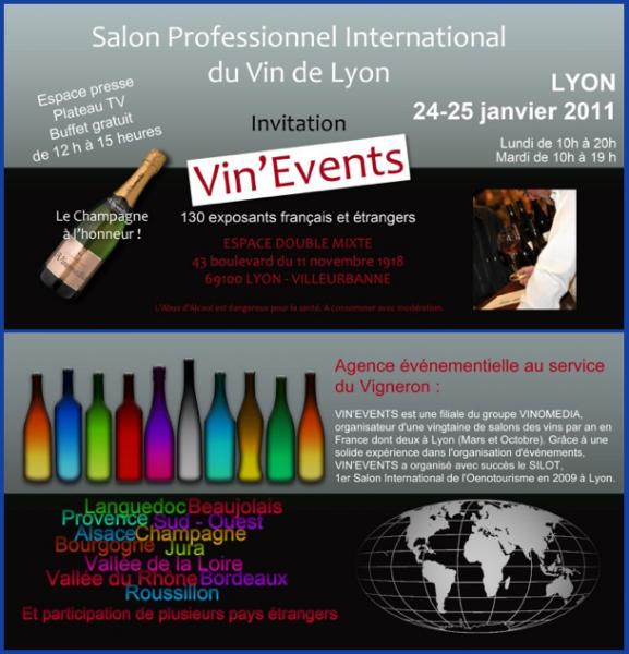 Invitation lyon saveurs pour le salon professionnel vin for Salon professionnel