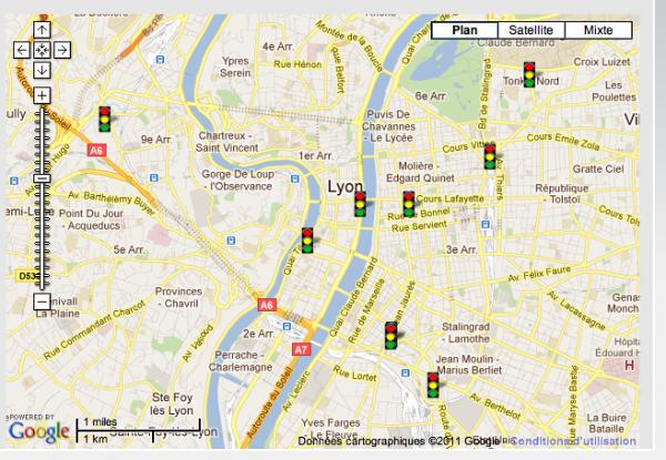 A Lyon aux radars de feux rouges, soyez prudents avec la carte