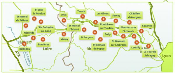 carte autoroute a89 sorties Autoroute A89: Balbigny – La Tour de Salvagny ouverte !LYON SAVEURS