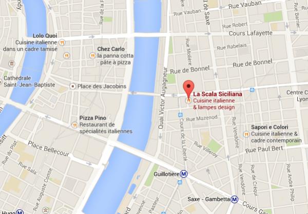 La scala siciliana un v ritable restaurant italien - Chambre de commerce italienne de lyon ...