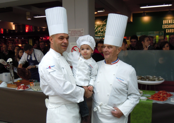 Jérôme Bocuse, P'tit Paul Bocuse et Paul Bocuse